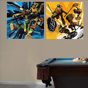 Teenage Mutant Ninja Turtles Dual Action Murals Fathead Wall Decal